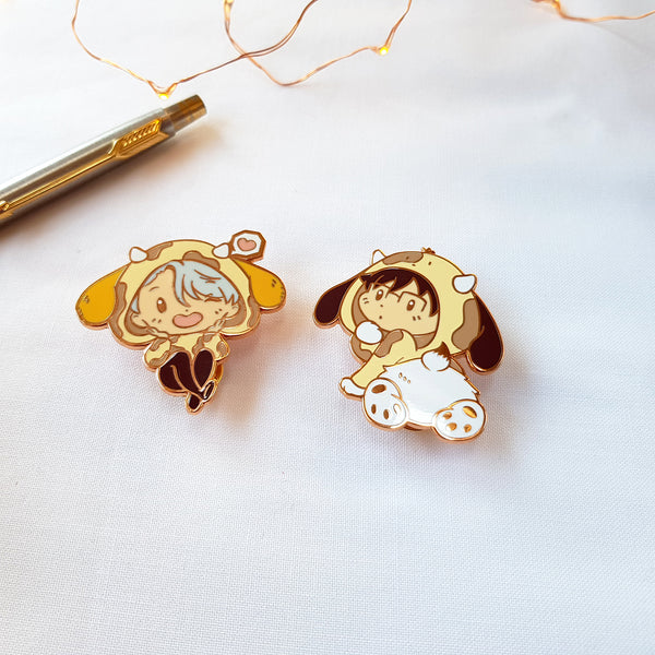 [Yuri!!! on Ice] Mo! Enamel pins