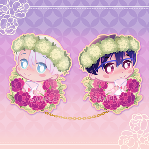 [Yuri!!! on Ice] Victuuri - wooden pins