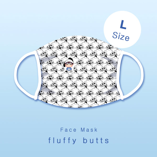[Yuri!!! on ice] Fluffy butts - Face mask (L size)