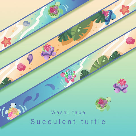 Succulent turtle - Washi tape
