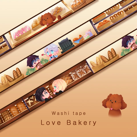 [Yuri!!! on Ice] Love Bakery - Washi tape