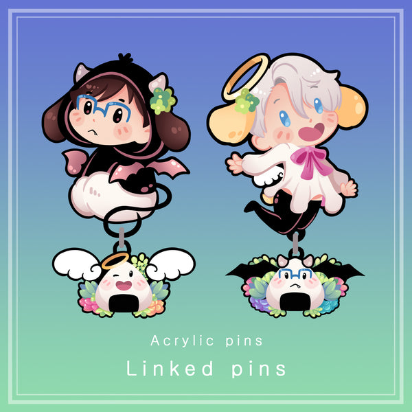 [Yuri!!! on Ice] linked acrylic pins