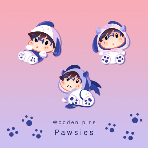 [Yuri!!! on Ice] - Pawsies - wooden pins
