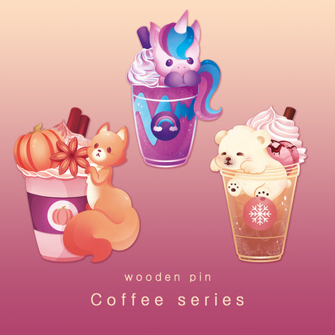 [Coffee series] - wooden pins