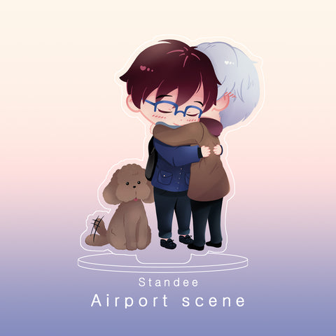 [Yuri!!! on Ice] Airport scene - Standee