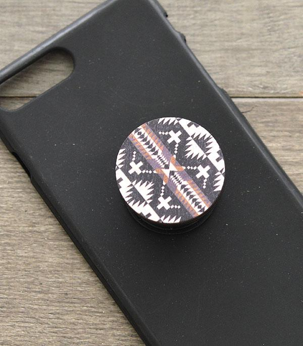 Tribal Wood Phone Grip
