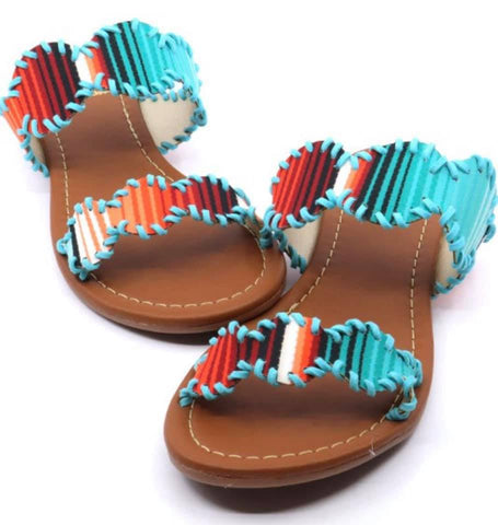 Mexico Beaches Serape Sandals