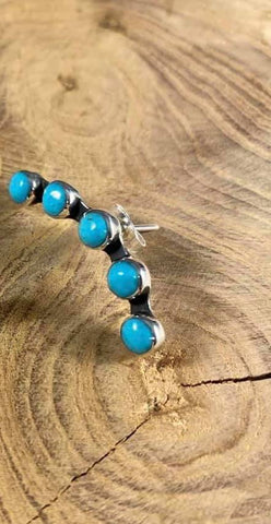 Separated Turquoise Stone Cartilage Earring