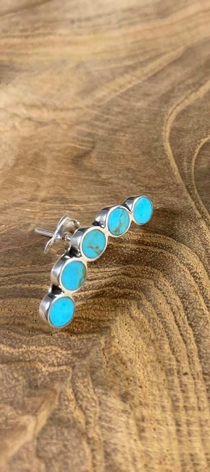 Turquoise Stone Cartilage Earring