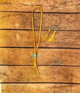 Mustard Fringe Necklace