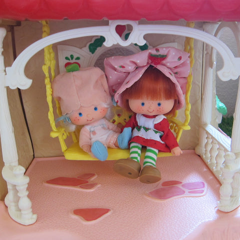 Porch swing on Strawberry Shortcake Berry Happy Home dollhouse