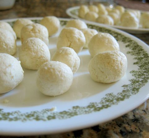 Roll gulab jamun dough into 1 inch balls