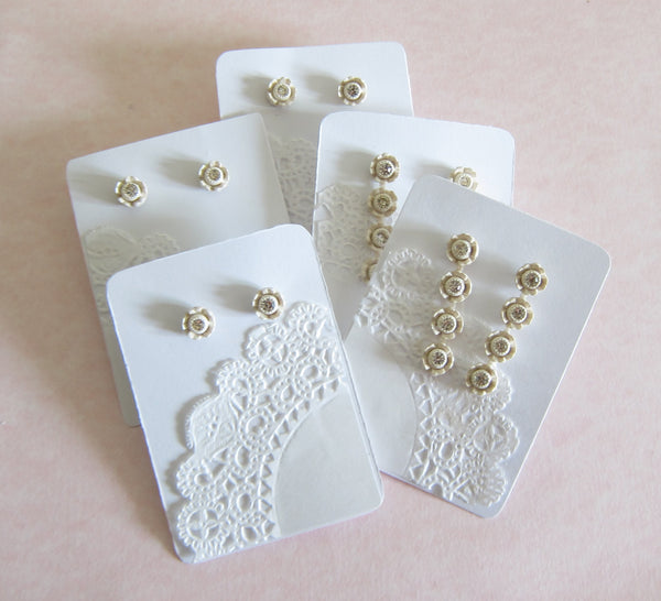 Lace Doily Earring Display Cards