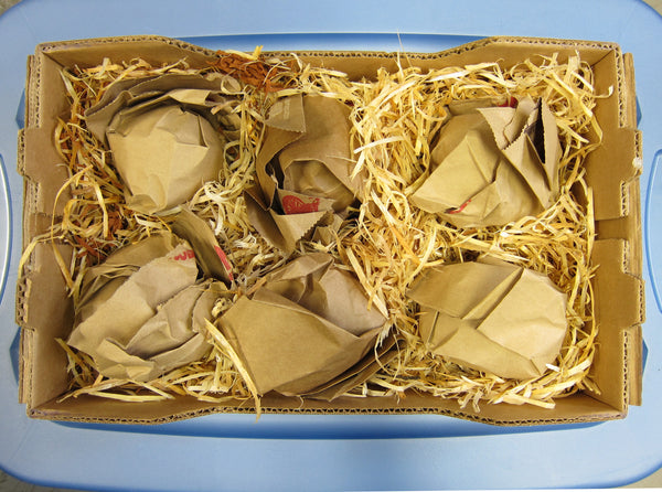 Insulate stored apples with straw, hay, or wood shavings