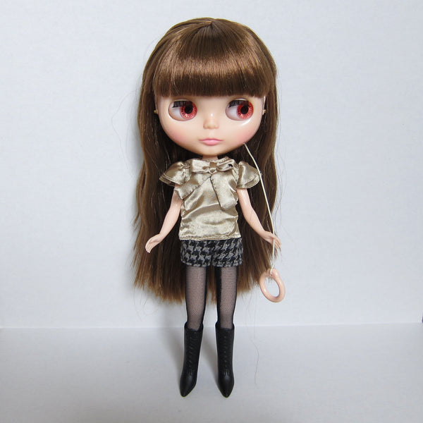 Blythe Raspberry Sorbet doll pink eye changing loop
