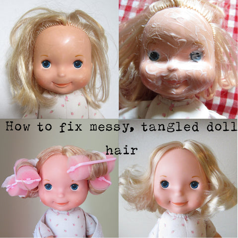 How to fix messy, tangled doll hair