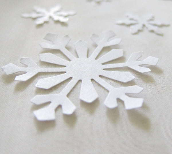 Snowflake Confetti for Winter Wedding or Party