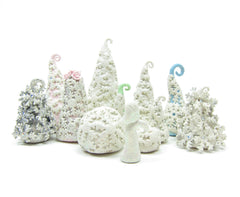 Winter Wunderland miniature polymer clay figurines
