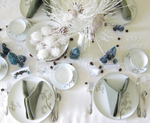 Winter Wedding or Party Tablescape