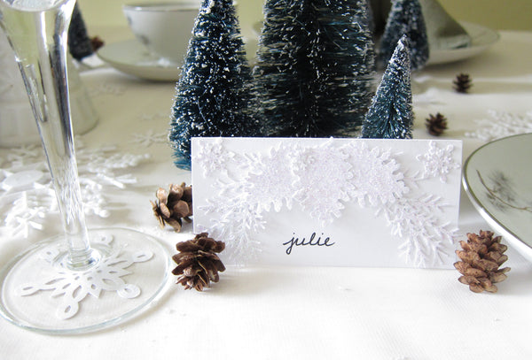 Pine Cone Place Cards for Winter Wedding or Party