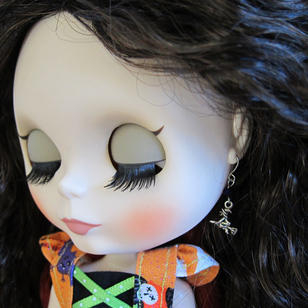 Miniature witch earrings for Blythe doll