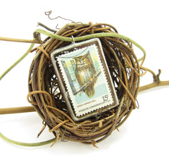Owl & Forest Conservation Stamp Necklace