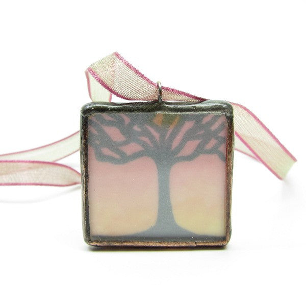 Tree Soldered Pendant Necklace