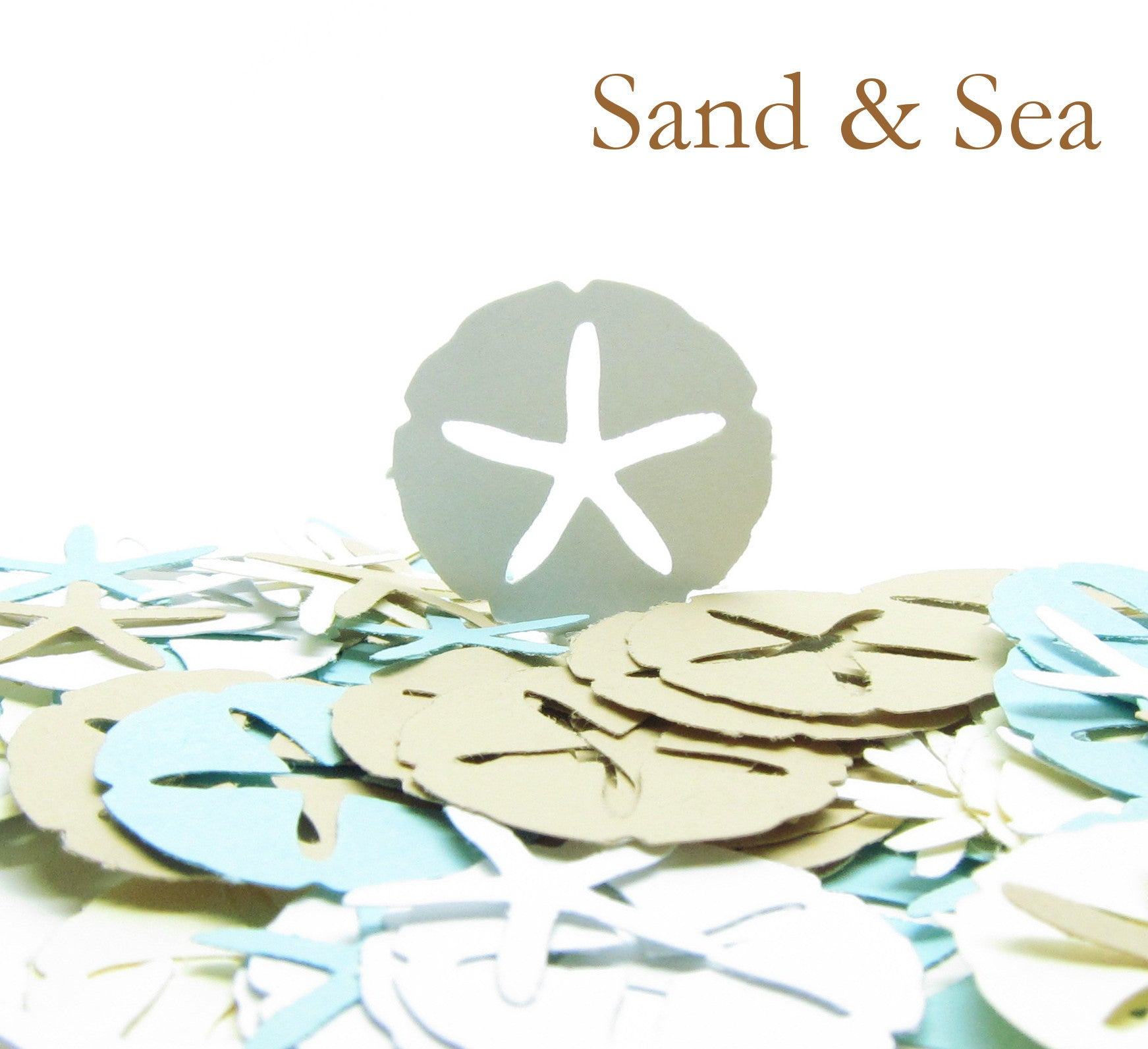Sand Dollar & Starfish Confetti - Sand & Sea