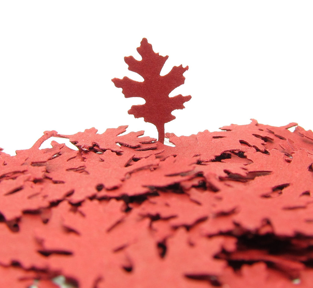 Small Oak Leaf Paper Punches Oak Leaves Embellishments