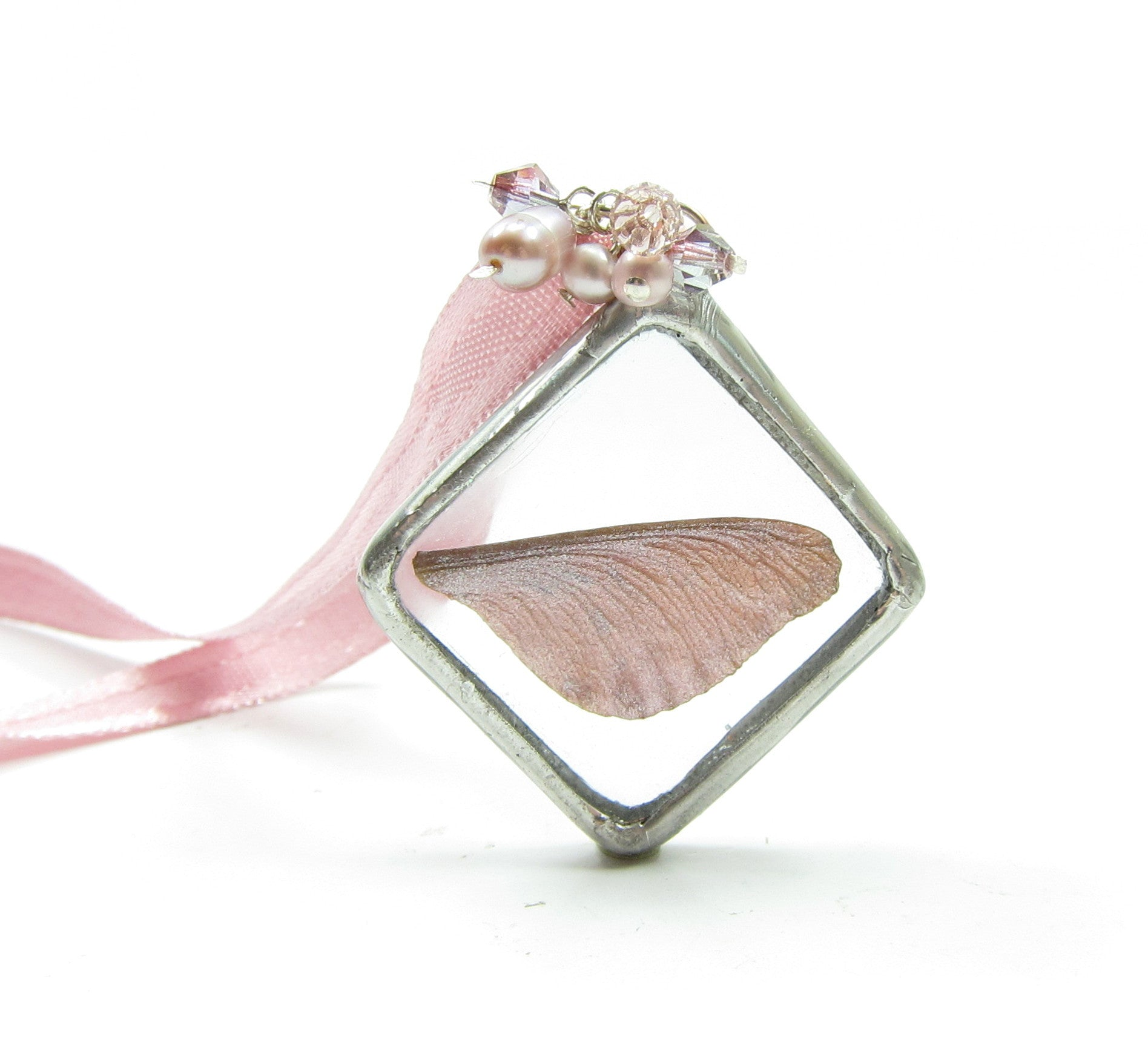 Rose Fairy Wing Soldered Pendant Necklace