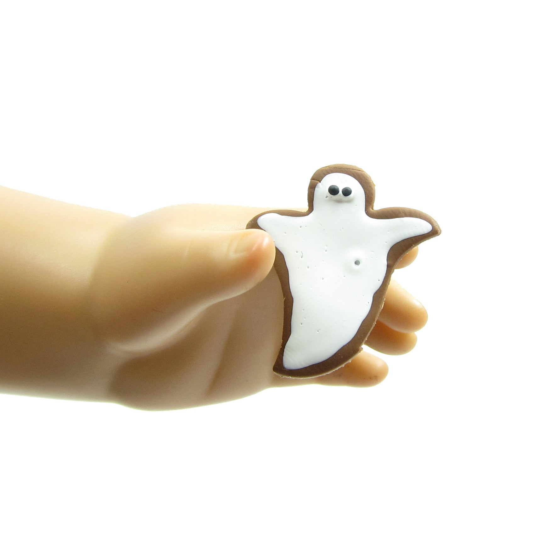 Gingerbread ghost cookie for 18 inch dolls
