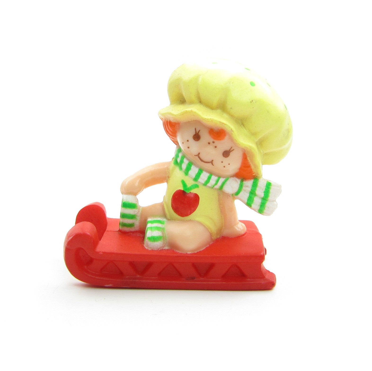 Apple Dumplin on a Sled miniature figurine