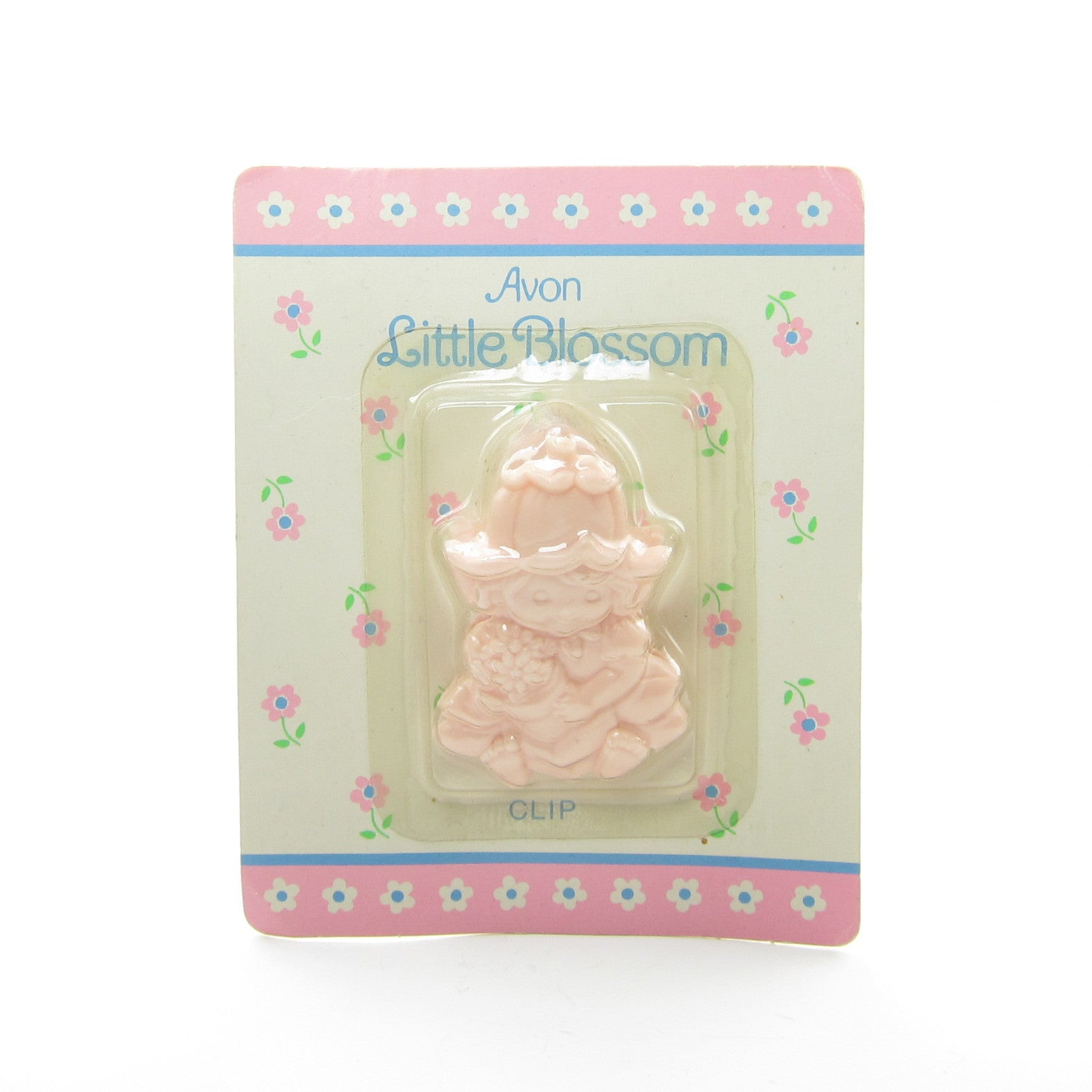 Avon Little Blossom plastic clip in package