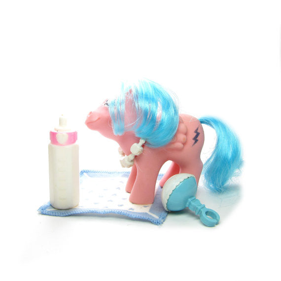 My Little Pony 35th Anniversary Unicorn Pegasus Collection Firefly Pink teal toy