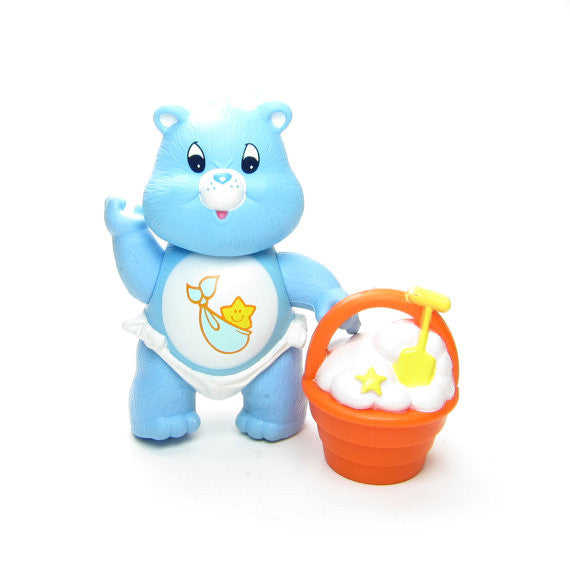 Baby Tugs Bear poseable Care Bears toy with Big Diggity Bucket