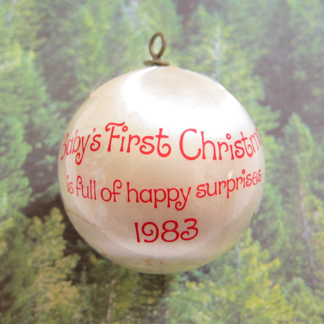 Baby's First Christmas 1983 Strawberry Shortcake ornament