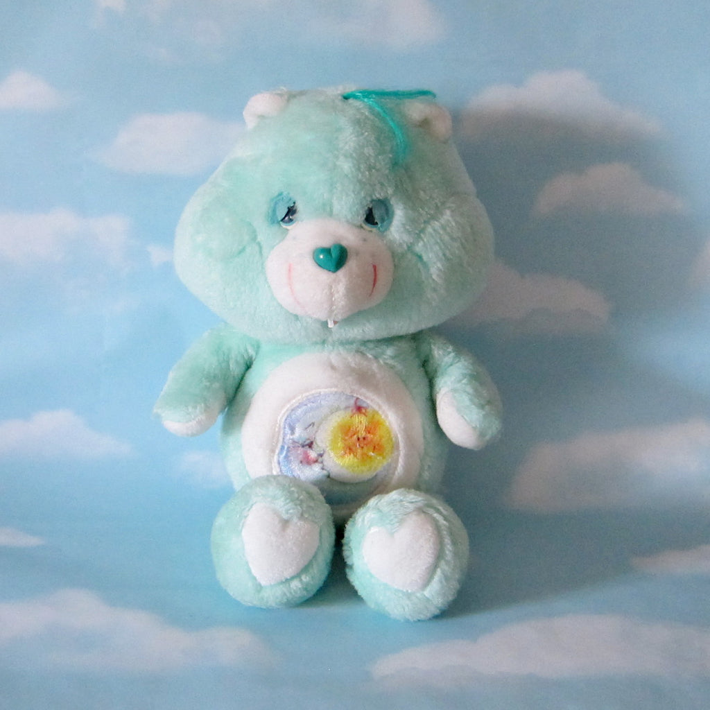 "Bedtime Bear Plush Vintage 13"" Care Bears Stuffed Animal"