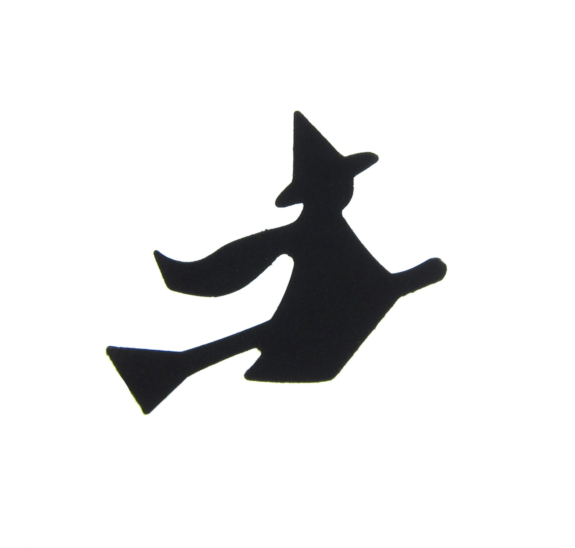 Black Witch on Broomstick Halloween Confetti