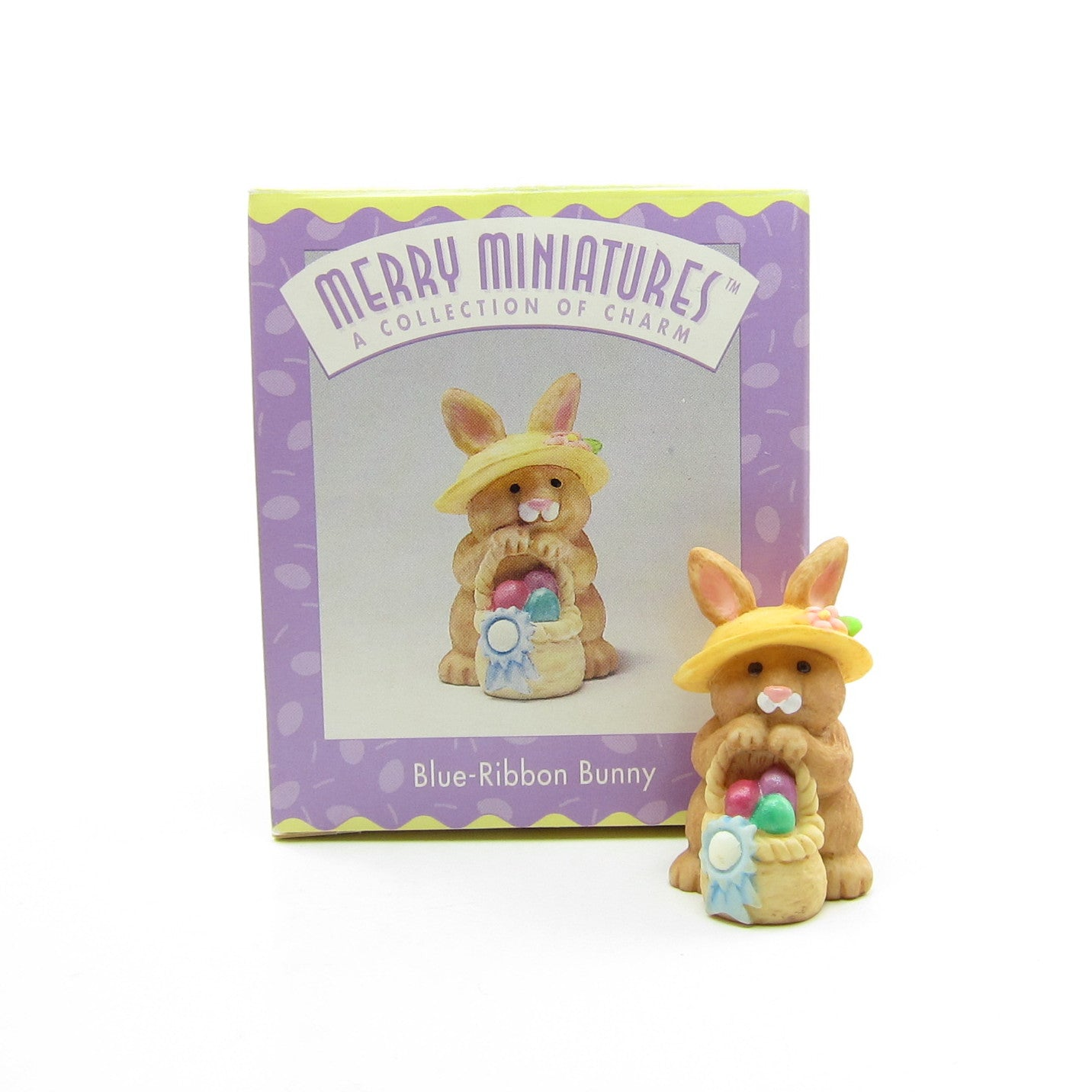Hallmark Merry Miniatures Blue-Ribbon Bunny