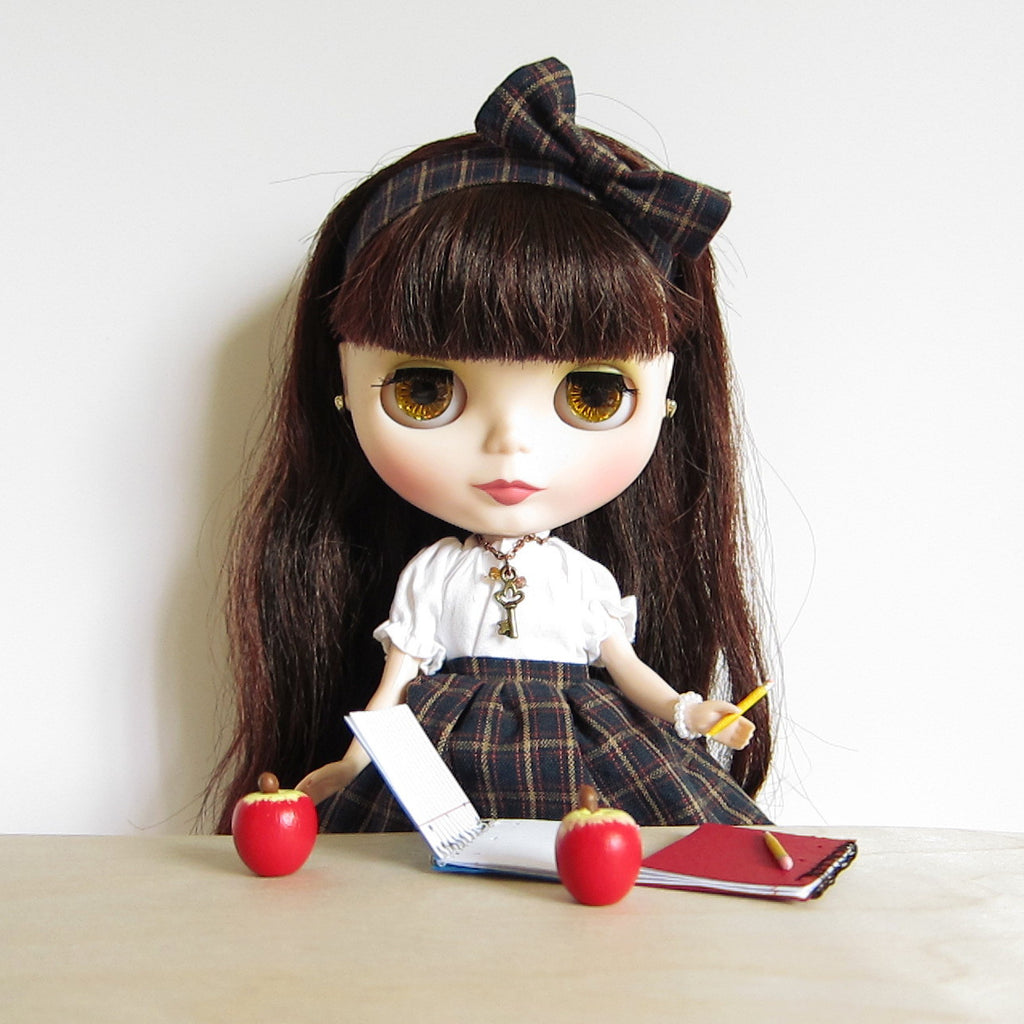 Miniature Apple for Playscale Dolls Wooden Hand Painted Red Apple Prop