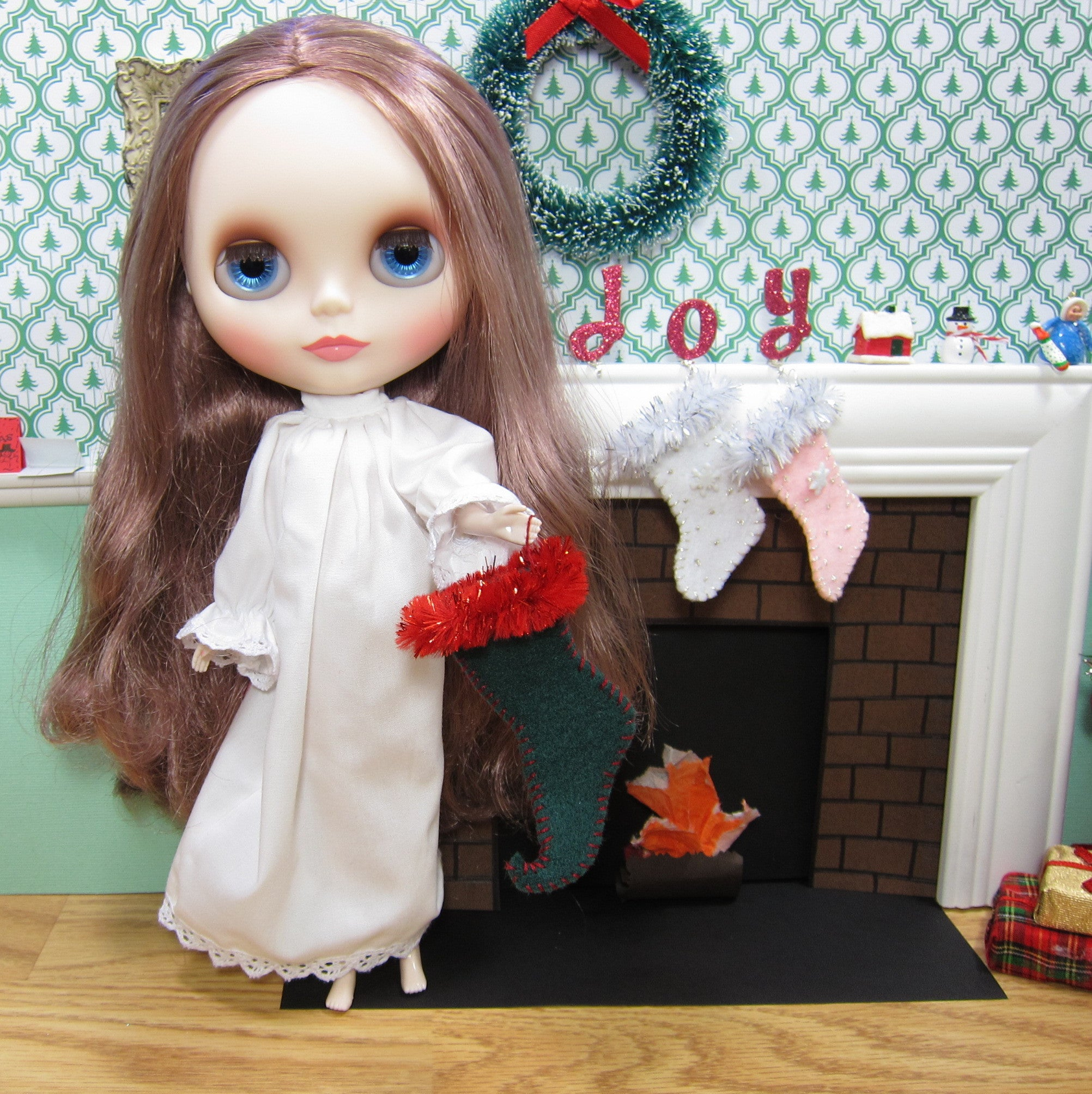 Elf shoe Christmas stocking for Blythe dolls