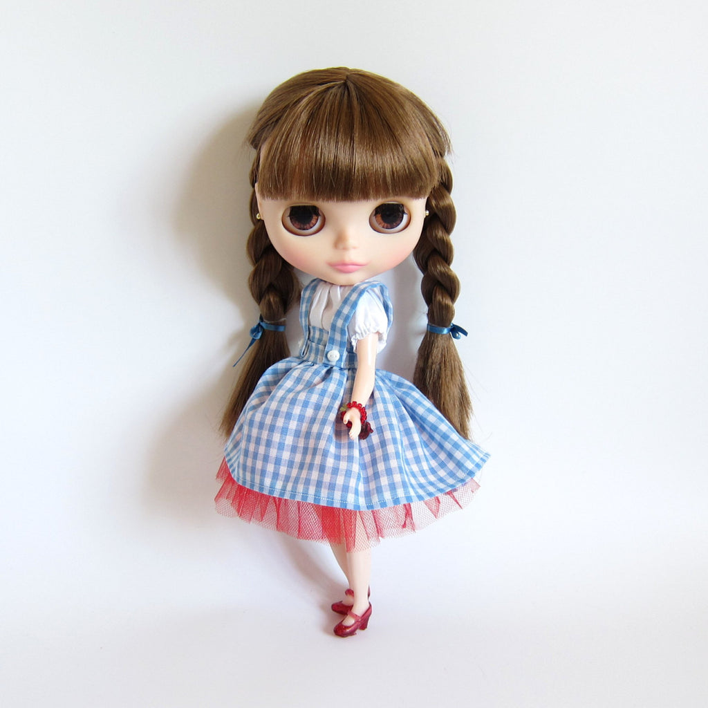 Dorothy Wizard of Oz Costume for Blythe & Pullip Dolls