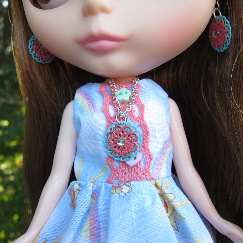 Filigree Pendant Necklace for Blythe and Playscale Dolls