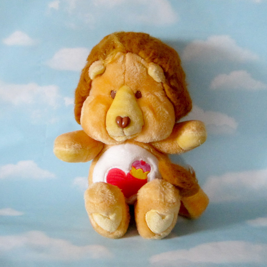 "Brave Heart Lion Plush Vintage 13"" Care Bears Cousins Stuffed Animal"