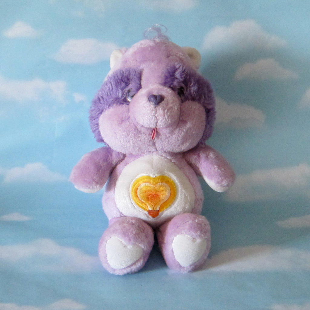 "Bright Heart Raccoon Plush Vintage 13"" Care Bears Cousins Stuffed Animal"