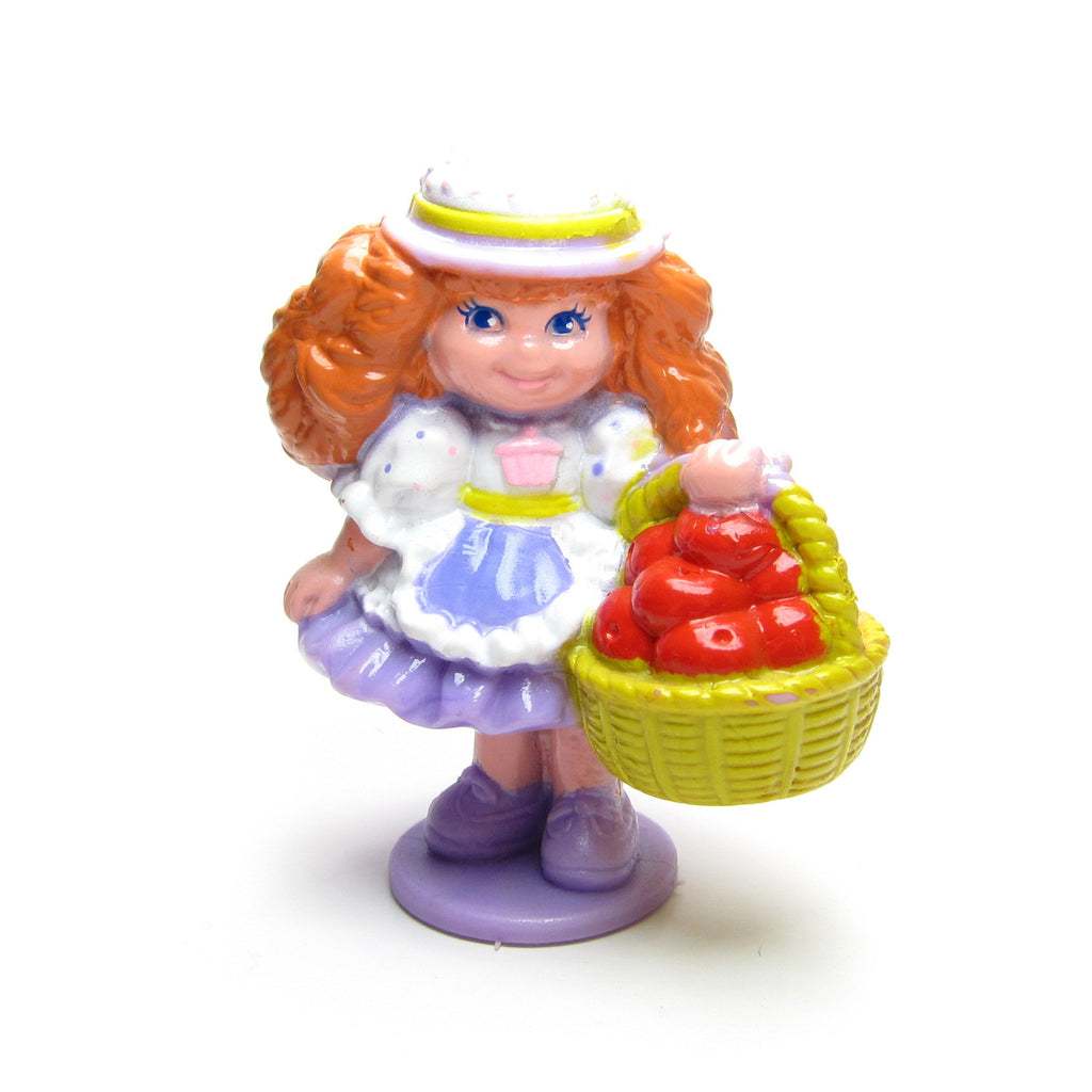 Bubblegum Becky with Basket of Apples Miniature Figurine