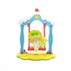 Butter Cookie and Jelly Bear on a Swing miniature figurine set