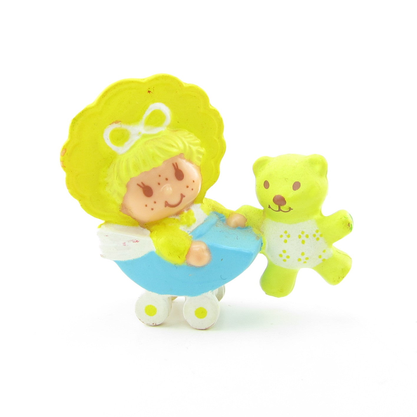 Butter Cookie with Jelly Bear in a Buggy Strawberry Shortcake miniature figurine