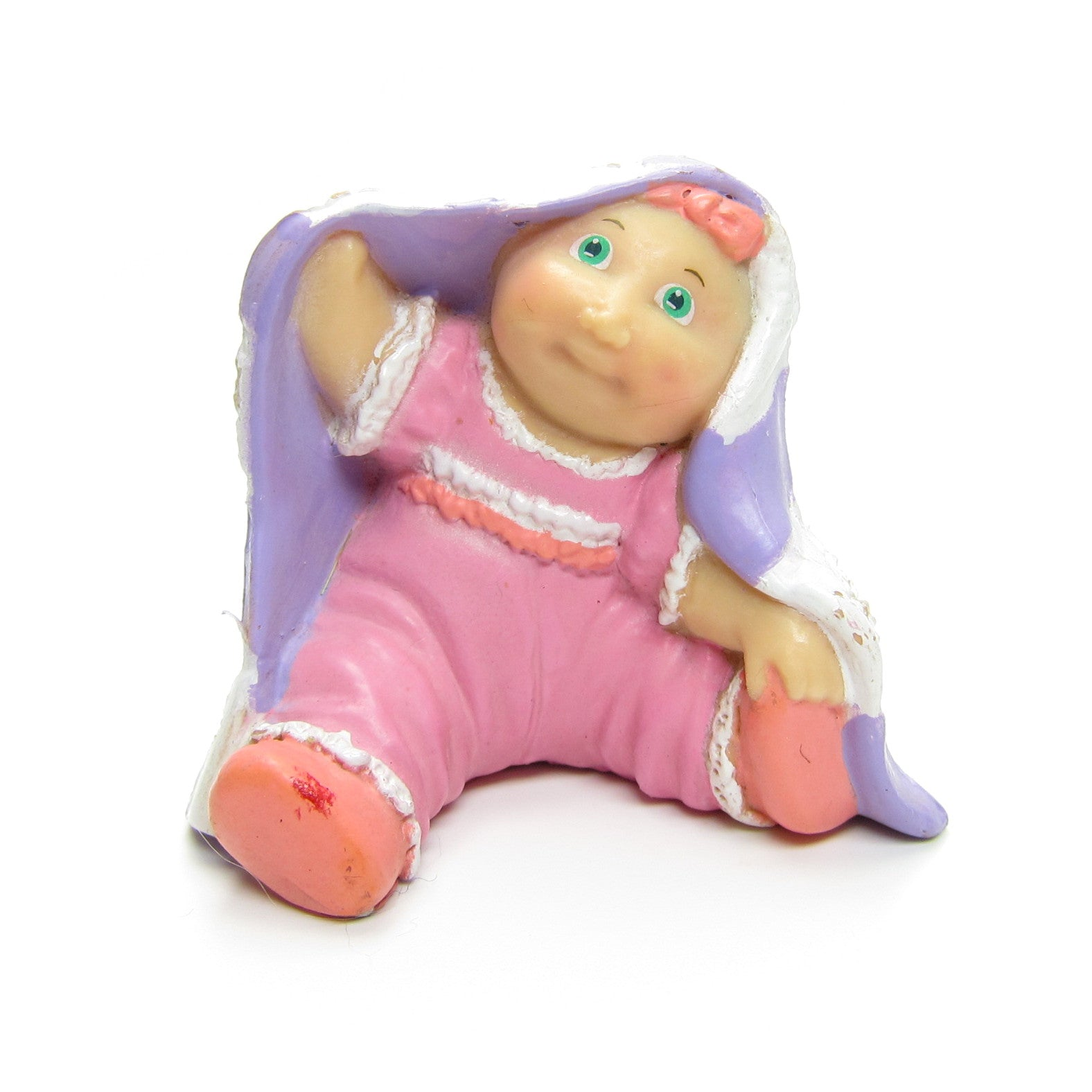 Cabbage Patch Kids Preemie under blanket miniature figurine