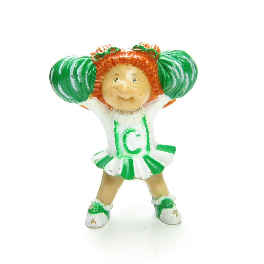 Cabbage Patch Kids Cheerleader Miniature Figurine Vintage PVC Redhead Girl